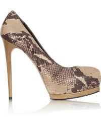 Pour La Victoire Zimmer Snakeeffect Leather Pumps - Lyst