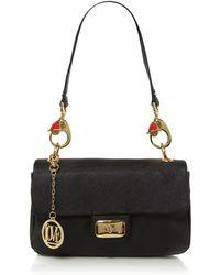 Love Moschino I Love Puppies Chain Shoulder Bag black - Lyst