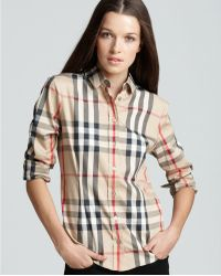 Burberry - Woven Exploded Check Shirt - Lyst