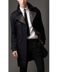 Burberry Mid-Length Cotton Gabardine Wool-Lined Trench Coat - Lyst
