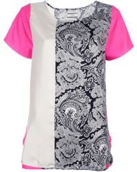 By Malene Birger Mixed Print Blouse - Lyst