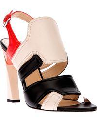 Calvin Klein - Heeled Sandal - Lyst
