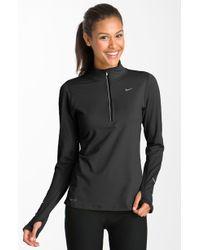 Nike 'Element' Half Zip Top black - Lyst