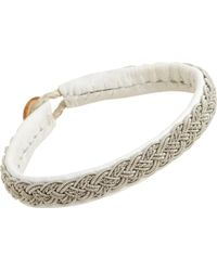 Maria Rudman - Medium Pewter Leather Bracelet - Lyst