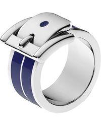 Michael Kors Wide Bedford Buckle Ring - Lyst