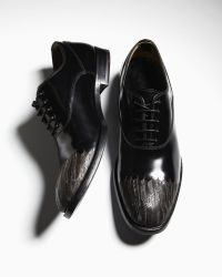 Alexander McQueen Etched Feather Laceup - Lyst
