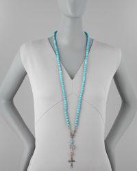 Love Heals - Long Beaded Cross Necklace - Lyst