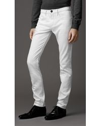 Burberry Shoreditch White Skinny Fit Jeans - Lyst