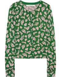 Diane von Furstenberg Ibiza Printed Silk and Cashmere-Blend Cardigan - Lyst