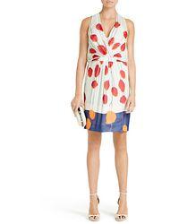 Diane von Furstenberg Jessica Silk Poppy Print Dress - Lyst