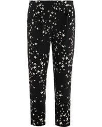 Tibi Starprint Silk Trousers black - Lyst