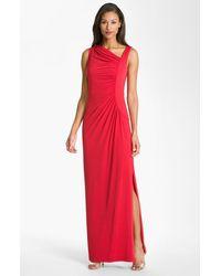 Calvin Klein Asymmetrical Jersey Gown - Lyst