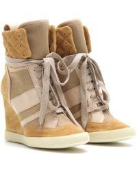 Chloé Wedge Sneakers - Lyst