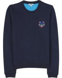 Kenzo Sweatshirt with Embroidered Logo blue - Lyst