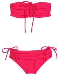 Lanvin - Bandeau Bikini with Drawstring - Lyst