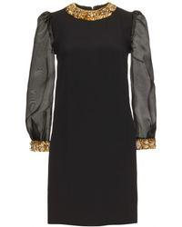 Miu Miu Sequin and Crystal Embellished Dress - Lyst