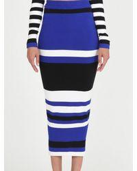 Torn By Ronny Kobo Ronny Skirt Stripes - Lyst