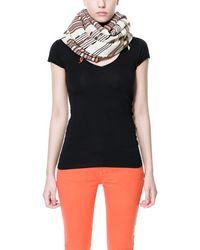 Zara V-neck T-shirt - Lyst