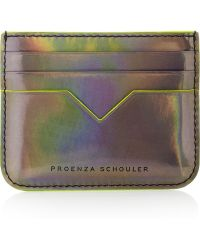 Proenza Schouler - Holographic Leather Card Holder - Lyst