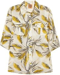 Tory Burch Brigitte Printed Silk voile Shirt - Lyst