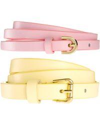 Asos 2 Pack Skinny Waist Belts - Lyst