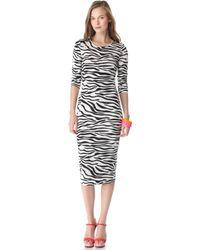 By Malene Birger Husia Zebra Dress - Lyst