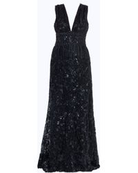 Elie Saab Vneck Fully Beaded Gown - Lyst