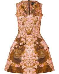McQ by Alexander McQueen Rose Petal Print Dress - Lyst