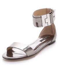 Rachel Zoe Gladys Metallic Leather Sandals - Lyst