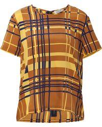 Steffen Schraut Summer Yellowmulti Silk Buzios Shirt - Lyst