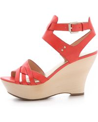 Belle By Sigerson Morrison - Call Wood Wedges - Lyst