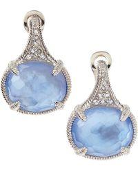 Judith Ripka - Glacier Blue Quartzmother Of Pearl Earrings - Lyst