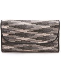 M Missoni - Space Dye Oversized Clutch - Lyst
