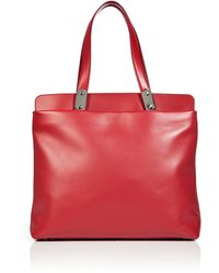 Maison Margiela Pepper Red Leather Tote - Lyst