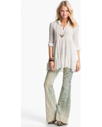Free People Tiered Gauze Tux Tunic - Lyst