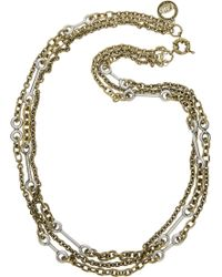 Giles & Brother - Archer Goldtone and Silver Multichain Necklace - Lyst