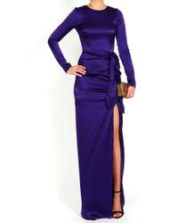 Gryphon - Knotty Maxi Dress in Purple - Lyst