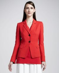 Lafayette 148 New York Willa Two-Button Jacket red - Lyst