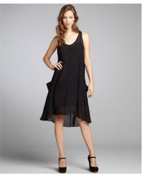 Marc By Marc Jacobs Black Silk Chiffon Shelly Baby Doll Dress - Lyst