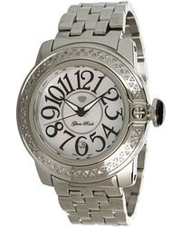 Glam Rock - Sobe 44mm Stainless Steel Watch with Diamonds - Lyst