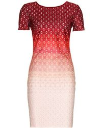 Missoni Paneled Ombré Crochet Knit Dress red - Lyst