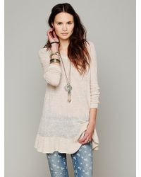 Free People Ruffle Your Hem Tunic - Lyst