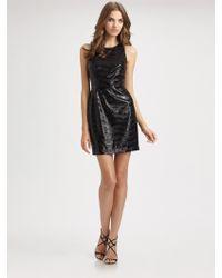 BCBGMAXAZRIA Sequined Dress - Lyst