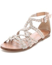 Belle By Sigerson Morrison Bobo Braided Flat Sandals - Lyst