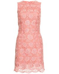 Christopher Kane Lace Overlay Dress pink - Lyst