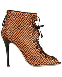 Daniele Michetti 110mm Carina Woven Leather Boots - Lyst
