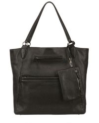 Galleriant Grained Leather Bag black - Lyst