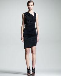 Helmut Ruched Asymmetric Dress - Lyst