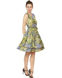 Morine Comte Marant | Flower Print Crepe De Chine Dress | Lyst