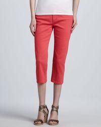 Nydj Ariel Blingpocket Cropped Jeans - Lyst